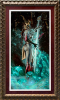 "Court of the Dead - Kier: Vision of Vengeance - SOLD OUT - by Sideshow Collectibles - Art Print - 18"" x 33"" one of 10 artist proofs, gold leaf FRAME and matted w ACTUAL signature - $670"