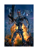 "Terminator: No Fate But What We Make - SOLD OUT @ Sideshow Collectibles - Premium Art Print - 18"" x 24"" one of 13 artist proofs, unframed w embossed seal & ACTUAL signature - $250 including USA shippi"