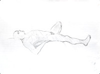 "Reclining Nude:  pencil on paper, 18"" x 24"", 2012"