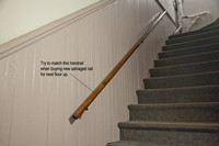 Match this handrail on replaced handrail at run above