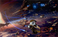 Star Wars:  Battle Of Coruscant - Done for the Essential Guide to Warfare by Del Rey Books - Lucasfilm